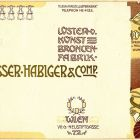 Advertisement card - Zeisser Habiger & Comp., Vienna
