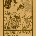 Ex-libris (bookplate) - Emma Bölsei Buday