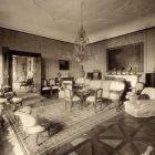 Interior photograph - blue salon in the Pálffy Palace of Királyfa