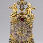Table clock - with two putti