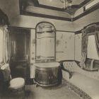 Interior photograph - sleeping car on the Royal Train of the Hungarian State Railways (MÁV)