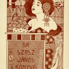 Ex-libris (bookplate) - János Szász