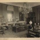 Interior photograph - study in the Károlyi Palace of Fehérvárcsurgó