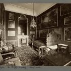 Interior photograph - so called Baroque bedroom in the Pálffy Palace of Királyfa
