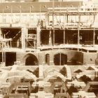 Architectural photograph - constructing the Hőgyes street wing, Museum of Applied Arts