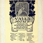 Advertisement card - for József Walla's Mosiac and Concrete Goods Factory