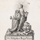 Ex-libris (bookplate) - library of the Royal University of Buda