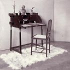 Exhibition photograph - writing cabinet with chair, Christmas Exhibition of The Association of Applied Arts 1900
