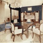 Exhibition photograph - dining room, Spring Exhibition of The Association of Applied Arts 1907
