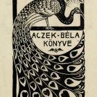 Ex-libris (bookplate) - Béla Aczek