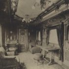 Interior photograph - the King's salon on the Royal Train of the Hungarian State Railways (MÁV)