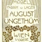 Advertisement card - August Unghetüm Furniture Factory, Vienna