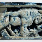 Architectural ceramics - frieze element depicting a mufflon (from the Bigot-pavilion)