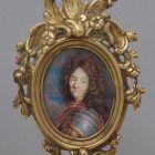 Miniature portrait - Portrait of Louis XIV. King of France