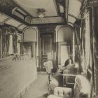 Interior photograph - the Queen's sleeping compartment on the Royal Train of the Hungarian State Railways (MÁV)