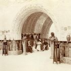 Exhibition photograph - entrance hall of the Hungarian Pavilion: passage towards the exhibition hall, Milan Universal Exposition 1906