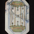 Floor tile - with hourglass, from the Buda Royal Palace