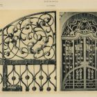 Design sheet - upper part of an ironwork gate of the Hungarian Royal Class Lottery Palace