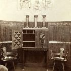 Exhibition photograph - music room in the Hungarian Pavilion, Milan Universal Exposition 1906