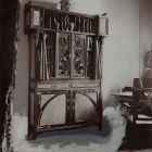 Exhibition photograph - book cupboard, Exhibition of Applied Arts at Szeged 1901