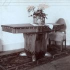 Exhibition photograph - dining table, Ede Thoroczkai Wigand's exhibition at Marosvásárhely, 1910