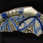 Fragment of the bottom of a deep bowl