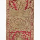 Silk fabric - so called Florentine border with the scene of the Resurrection