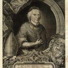 Engraving - Imre Esterházy, prince primate, archbishoparchbishop of Esztergom