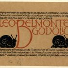 Advertisement card - Leo Belmonte, Gödöllő