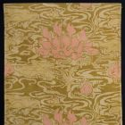 Printed fabric (furnishing fabric) - with water lilies
