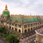 Architectural photograph - main and the Kinizsi street side facade, Museum of Applied Arts