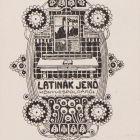 Ex-libris (bookplate) - Jenő Latinák
