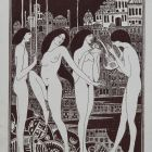 Ex-libris (bookplate) - Kálmán Harsányi