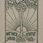 Ex-libris (bookplate) - Jakab Wiesner