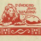 Ex-libris (bookplate) - János Löwengard