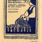Advertisement card - for Vilmos Grünbaum's Hand-made Carpet Factory
