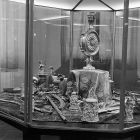 Exhibition photograph - objects from the Esterházy treasury exhibited in the Museum of Applied Arts in 1962