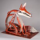 Object made of bycicle parts - Fire fox'