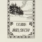 Ex-libris (bookplate) - Gusztáv Jäger
