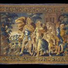 Tapestry - Diana going hunting with Mars
