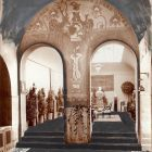 Interior photograph - fresco in the ground floor's exhibition hall of the National Salon