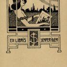 Ex-libris (bookplate) - József Schnabel