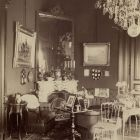 Interior photograph - salon in the Palace of Alajos Károlyi (Estreházy str., today Pollack M. sq.)
