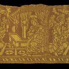 Szalagtöredék - with the sceene of the Annunciation