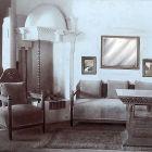 Exhibition photograph - salon, Ede Thoroczkai Wigand's exhibition at Marosvásárhely, 1910