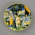 Istoriato plate - Nero having his mother, Agrippina tortured
