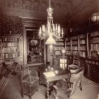 Interior photograph - library in the Lipthay Palace (Lánchíd str. 4.)