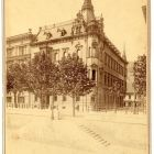 Architectural photograph - facade of the Emmer Palace in Buda looking for the Danube
