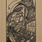 Ex-libris (bookplate) - Rise of the wave of dawn light