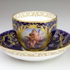 Cup and saucer - With amorettini